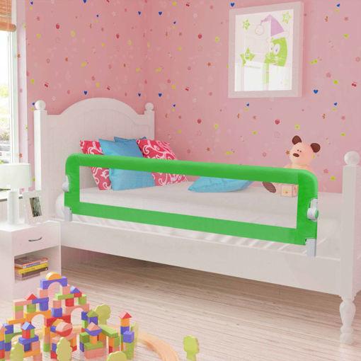Immagine di Sponde Letto per la Sicurezza dei Bambini 2 pz Verde 150x42 cm