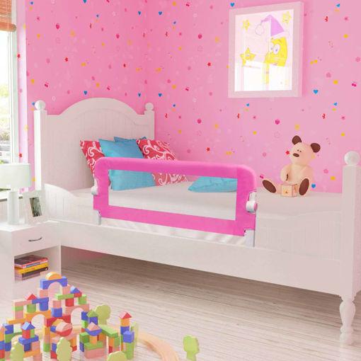 Immagine di Sponde Letto per la Sicurezza dei Bambini 2 pz Rosa 102x42 cm