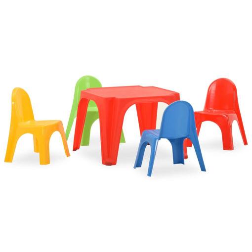 Immagine di Set Tavolo e Sedie per Bambini in PP