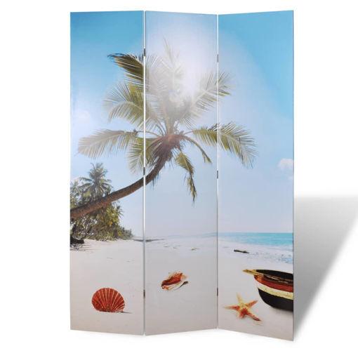 Immagine di Paravento Pieghevole 120x170cm con Stampa Spiaggia