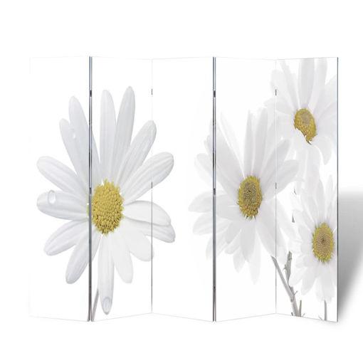 Immagine di Paravento Pieghevole 200x170 cm con Stampa Fiore