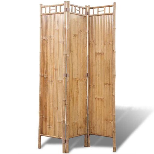 Immagine di Paravento a 3 Pannelli in Bambù