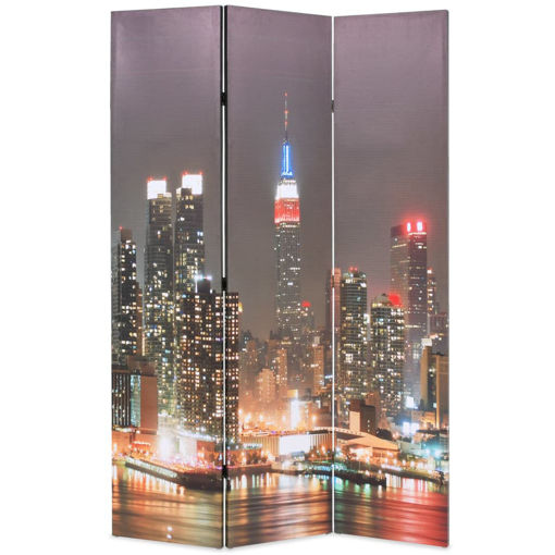 Immagine di Paravento Pieghevole 120x170 cm Stampa New York di Notte