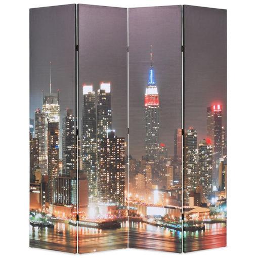 Immagine di Paravento Pieghevole 160x170 cm Stampa New York di Notte