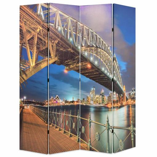 Immagine di Paravento Pieghevole 160x170 cm Stampa Harbour Bridge di Sydney