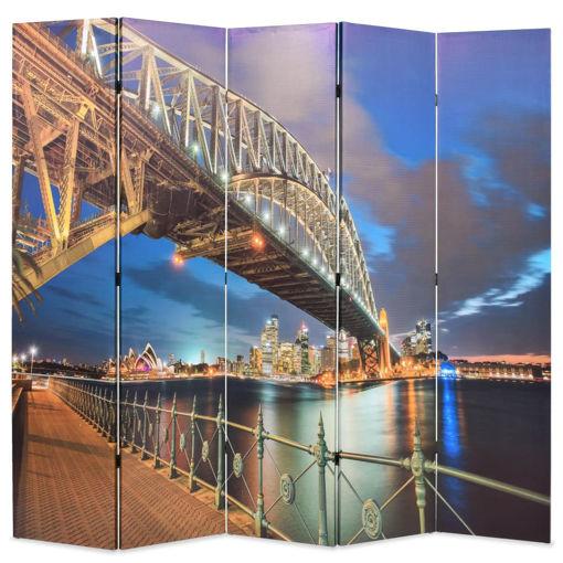 Immagine di Paravento Pieghevole 200x170 cm Stampa Harbour Bridge di Sydney