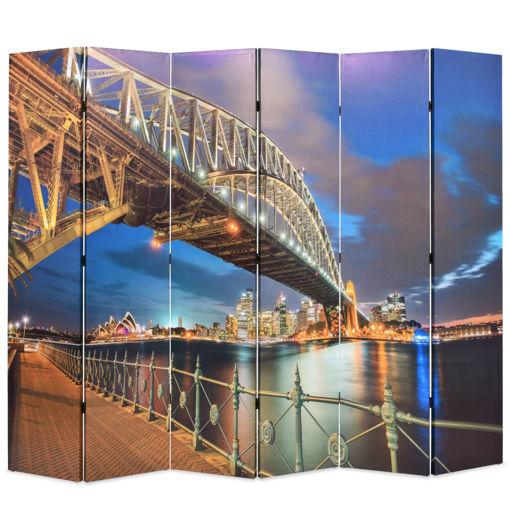 Immagine di Paravento Pieghevole 228x170 cm Stampa Harbour Bridge di Sydney