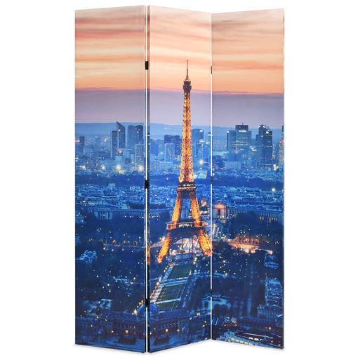 Immagine di Paravento Pieghevole 120x170 cm Stampa Parigi di Notte