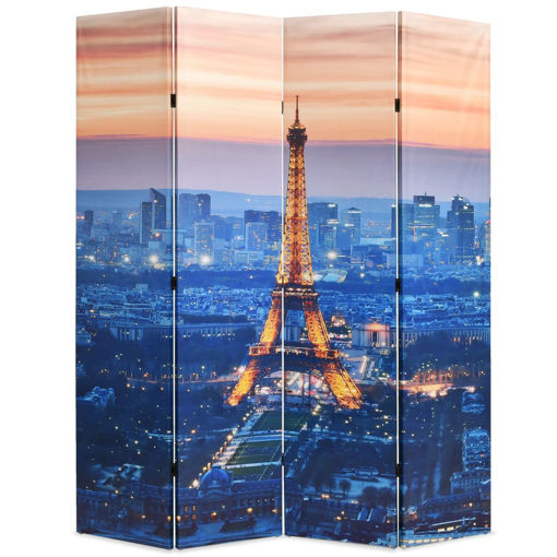 Immagine di Paravento Pieghevole 160x170 cm Stampa Parigi di Notte