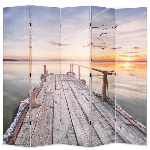 Immagine di Paravento Pieghevole 200x170 cm Stampa Lago