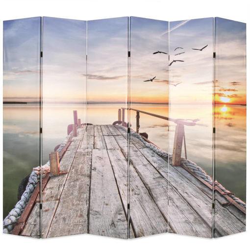 Immagine di Paravento Pieghevole 228x170 cm Stampa Lago