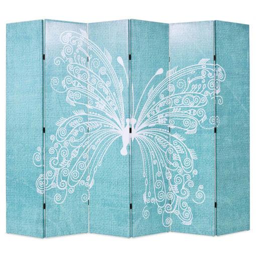 Immagine di Paravento Pieghevole 228x170 cm Stampa Farfalla Blu