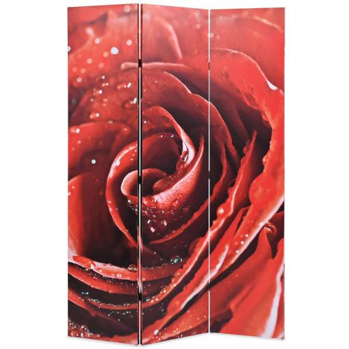 Immagine di Paravento Pieghevole 120x170 cm Stampa Rosa Rossa