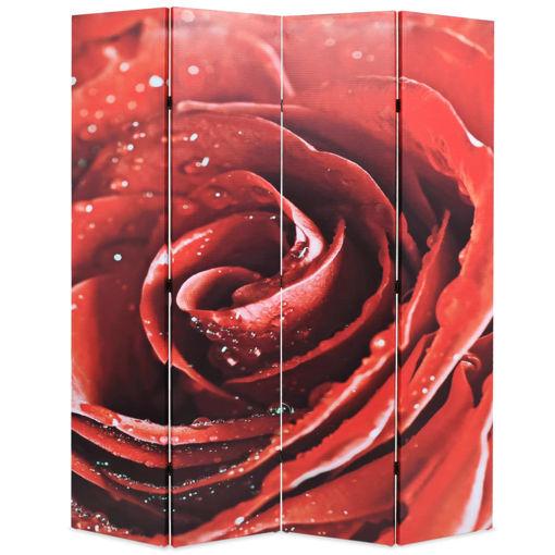 Immagine di Paravento Pieghevole 160x170 cm Stampa Rosa Rossa
