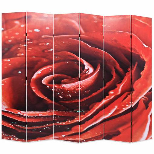 Immagine di Paravento Pieghevole 228x170 cm Stampa Rosa Rossa