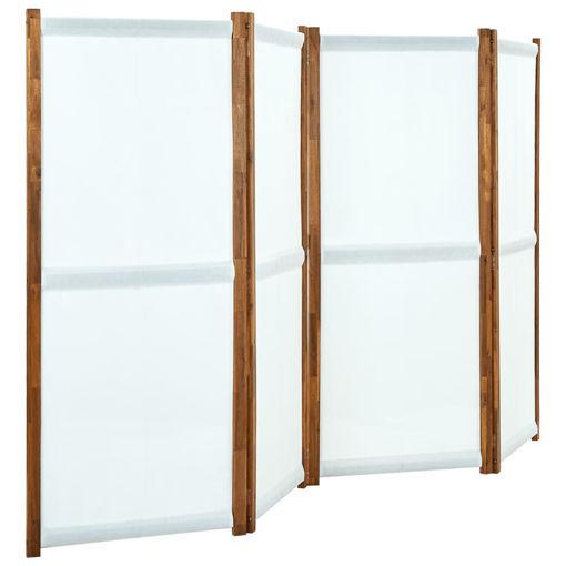 Immagine di Paravento a 4 Pannelli Bianco Crema 280x170 cm