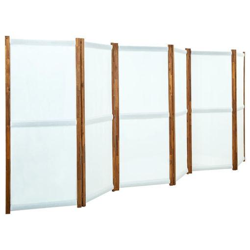 Immagine di Paravento a 6 Pannelli Bianco Crema 420x170 cm