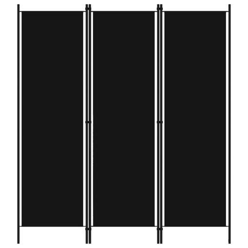 Immagine di Paravento a 3 Pannelli Nero 150x180 cm