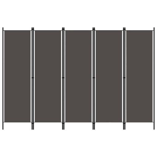 Immagine di Paravento a 5 Pannelli Antracite 250x180 cm