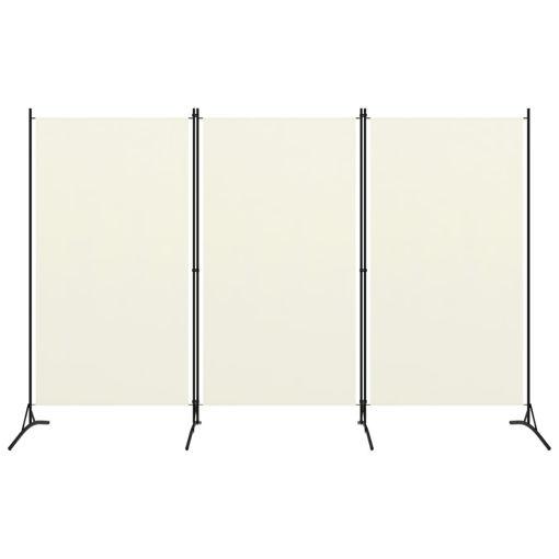Immagine di Paravento a 3 Pannelli Bianco Crema 260x180 cm