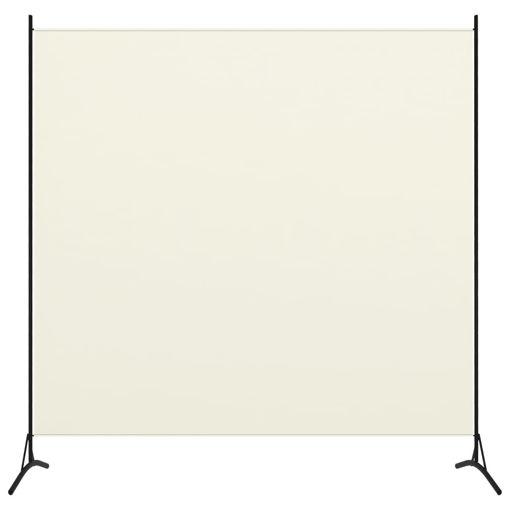 Immagine di Paravento a 1 Pannello Bianco Crema 175x180 cm