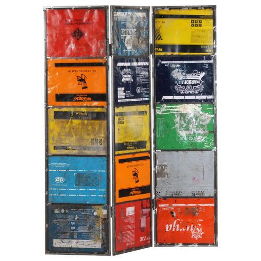 Immagine di Paravento Multicolore 45x17x167 cm Ferro