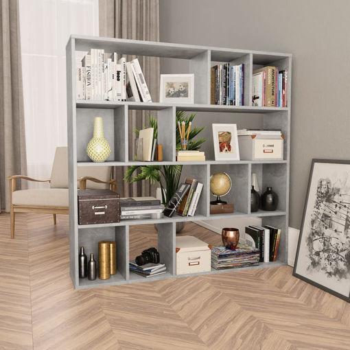 Immagine di Libreria/Divisorio Grigio Cemento 110x24x110 cm in Truciolato