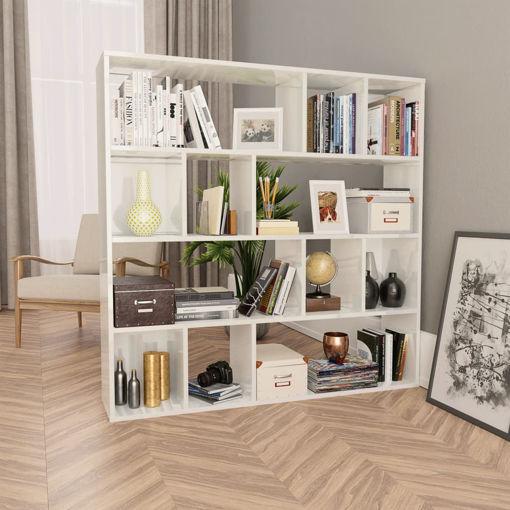 Immagine di Libreria/Divisorio Bianco Lucido 110x24x110 cm in Truciolato