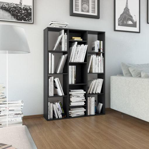 Immagine di Libreria/Divisorio Nero 100x24x140 cm in Truciolato