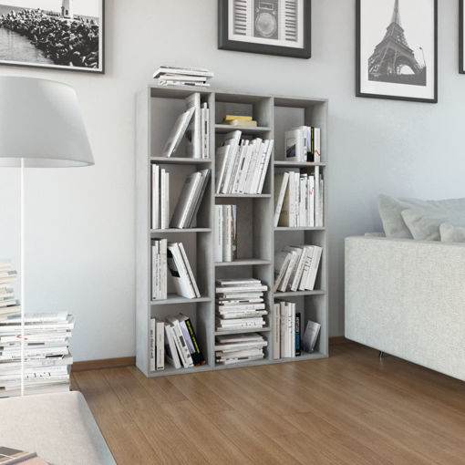 Immagine di Libreria/Divisorio Grigio Cemento 100x24x140 cm in Truciolato