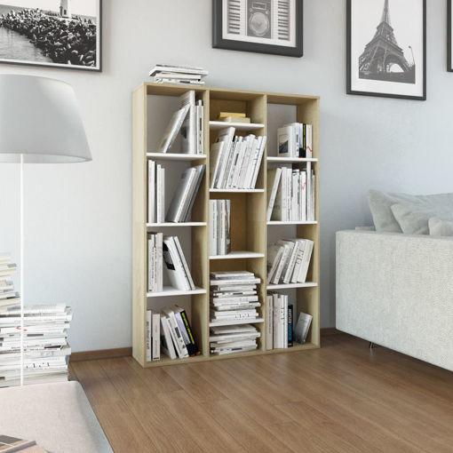 Immagine di Libreria/Divisorio Bianco Rovere Sonoma 100x24x140cm Truciolato