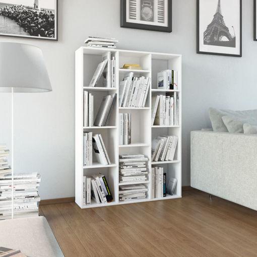 Immagine di Libreria/Divisorio Bianco Lucido 100x24x140 cm in Truciolato