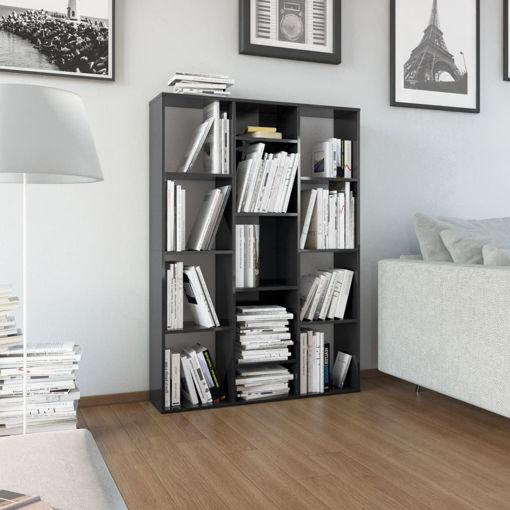 Immagine di Libreria/Divisorio Nero Lucido 100x24x140 cm in Truciolato