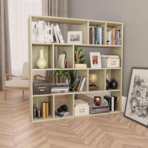Immagine di Libreria/Divisorio Rovere Sonoma 110x24x110 cm in Truciolato