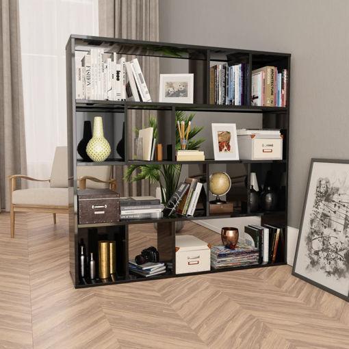 Immagine di Libreria/Divisorio Grigio Lucido 110x24x110 cm in Truciolato